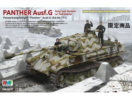 Rye Field Model Panther Ausf.G Early/Late w/Interior 1:35 (5016)