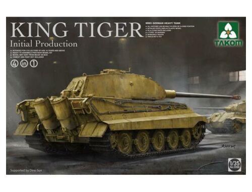 Takom German Heavy Tank King Tiger initial production 4 in 1 1:35 (2096)
