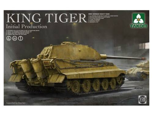 Takom German Heavy Tank King Tiger initial production 4 in 1 1:35 (2096)