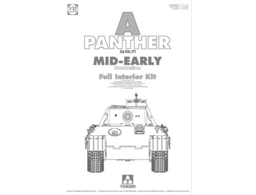 Takom German Heavy Tank Panther A mid-early 1:35 (2098)