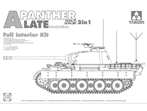 Takom German Heavy Tank Panther A late 1:35 (2099)
