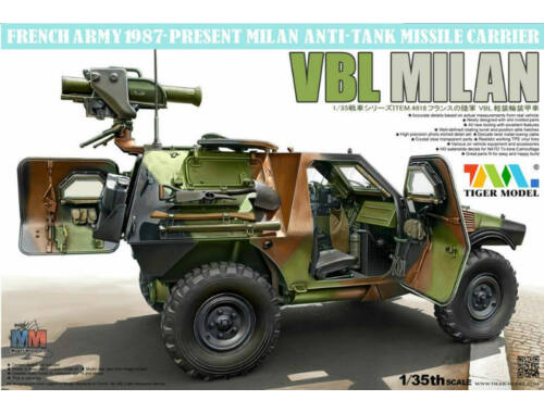 Tiger Model French VBL with Milan Anti-Tank Missile Launcher 1:35 (4618)