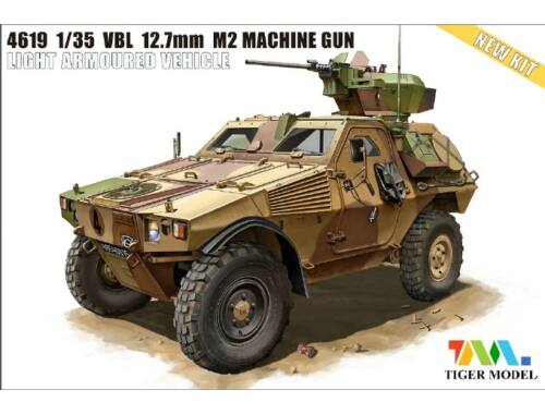 Tiger Model VBL 12.7mm M2 MACHINE GUN LIGHT ARMOURE 1:35 (4619)