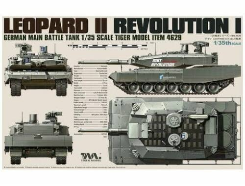 Tiger Model German Main Battle Tank Revolution I Leopard II 1:35 (4629)