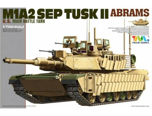 Tiger Model M1A2 SEP TUSK II ABRAM 1:72 (9601)