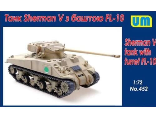 Unimodel Sherman V Tank with turret FL-10 1:72 (452)