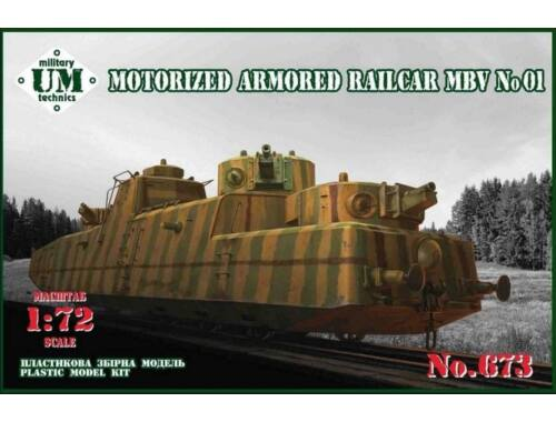 Unimodel Motorized armored railcar MBV No.01 1:72 (T673)