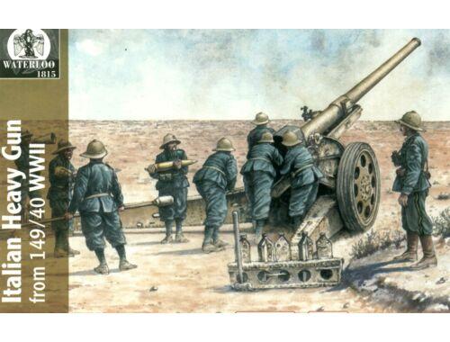 Waterloo Italian heavy gun 149/40 w/serv. 1:72 (AP024)