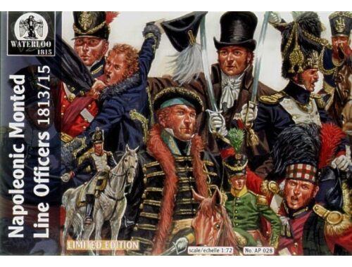 Waterloo Napoleonic mounted Line officers 1:72 (AP028)