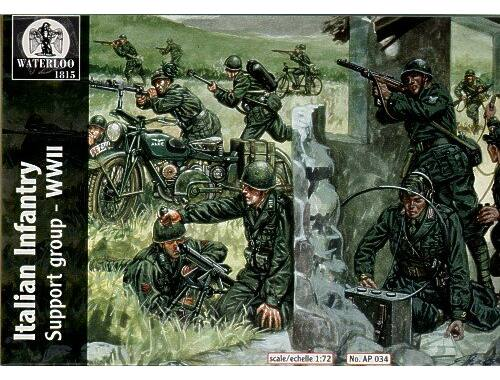 Waterloo Italian Infantry Support group WWII 1:72 (AP034)