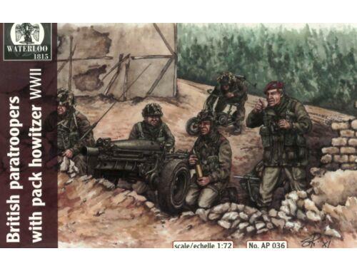 Waterloo Britsh paratroopers w.pack howitzer WWII 1:72 (AP036)