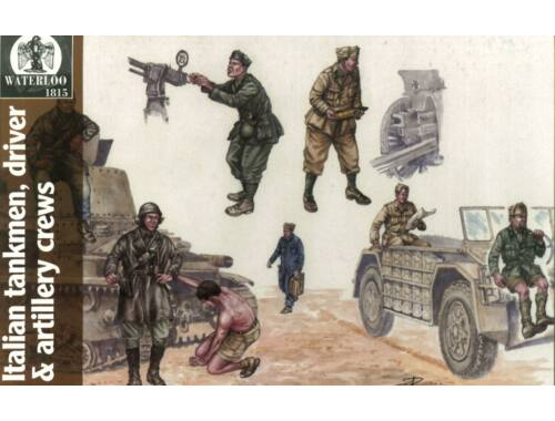 Waterloo Italian Tankmen, drivers artillery crews 1:72 (AP037)