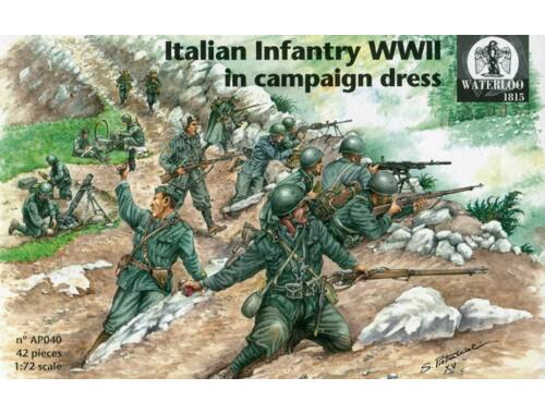 Waterloo Italian Infantry WWII in campaign dress 1:72 (AP040)