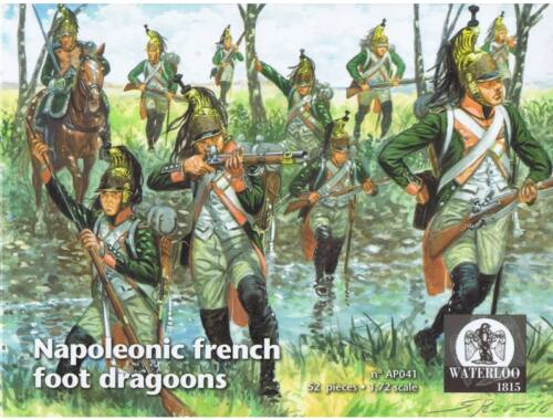 Waterloo Napoleonic french foot dragoons 1:72 (AP041)