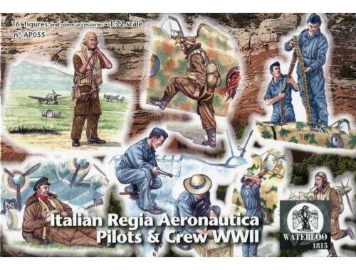 Waterloo Italian Regia Aeronautica Pilots   Crew 1:72 (AP055)