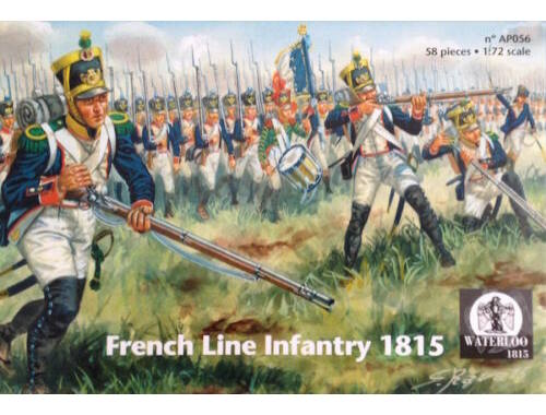Waterloo French Line Infantry 1815 1:72 (AP056)
