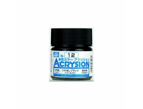 Mr.Hobby Acrysion N-012 Flat Black