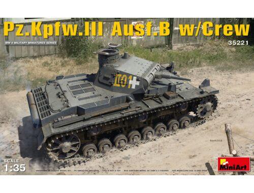 Miniart Pz.Kpfw.III Ausf.B w/Crew 1:35 (35221)