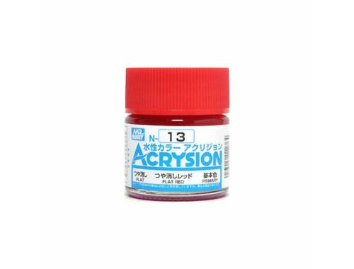 Mr.Hobby Acrysion N-013 Flat Red