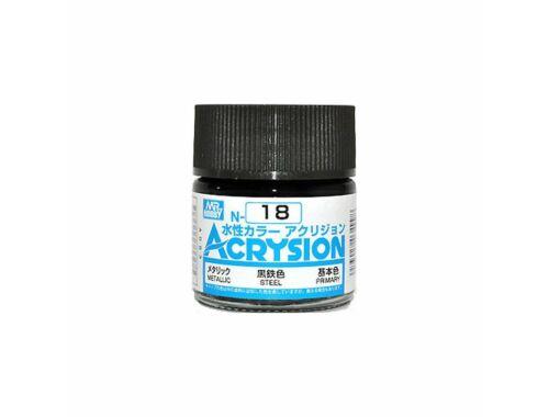 Mr.Hobby Acrysion N-018 Steel