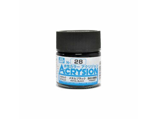 Mr.Hobby Acrysion N-028 Metal Black
