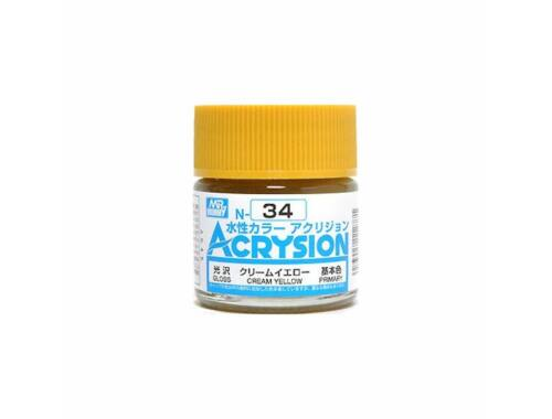Mr.Hobby Acrysion N-034 Cream Yellow