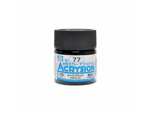 Mr.Hobby Acrysion N-077 Tire Black