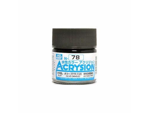 Mr.Hobby Acrysion N-078 Olive Drab (2)