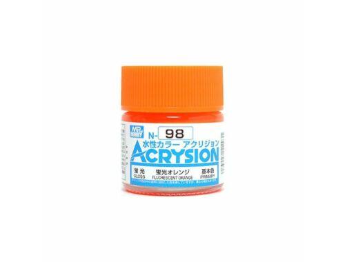 Mr.Hobby Acrysion N-098 Fluorescent Orange