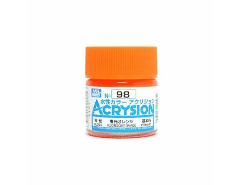 Mr.Hobby Acrysion N-098 Fluorescent Orange