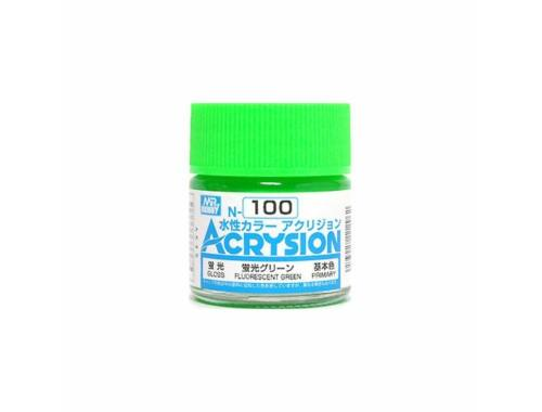Mr.Hobby Acrysion N-100 Fluorescent Green