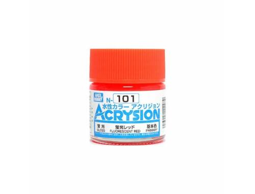 Mr.Hobby Acrysion N-101 Fluorescent Red