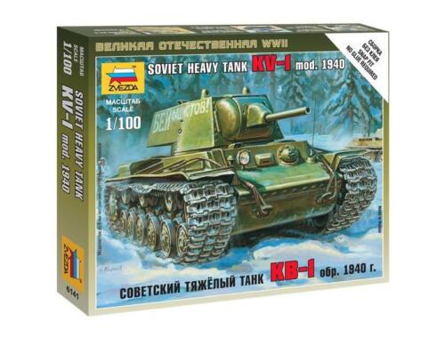 Zvezda Soviet Heavy Tank KV-1 mod. 1940 1:100 (6141)