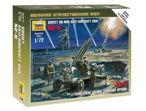 Zvezda Soviet 85mm Anti-Aircraft Gun 1:72 (6148)