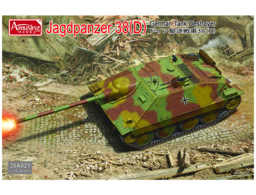 Amusing H. Jagdpanzer 38(D) Tank Destroyer 1:35 (35A021)