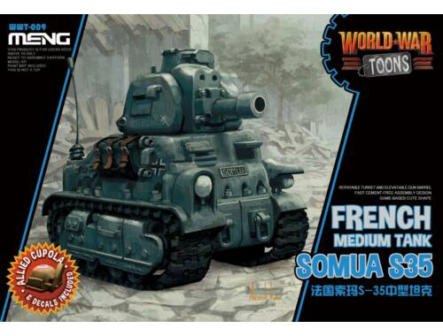 Meng French Somua S35 WW Toons Model (WWT-009)