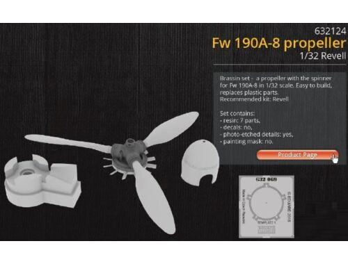 Eduard Fw 190A-8 propeller for REVELL 1:32 (632124)