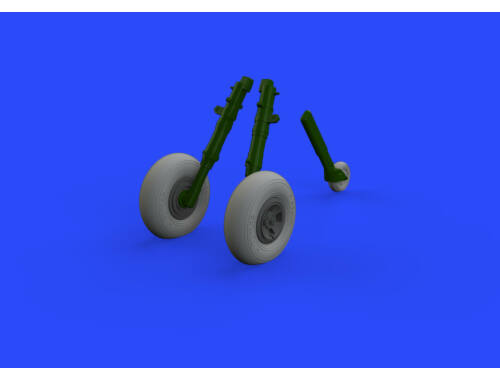 Eduard Spitfire Mk.IX wheels 4 spoke w/smooth tire for TAMIYA 1:32 (632129)