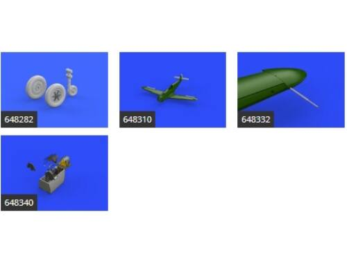 Eduard Bf 109G-4 essential for EDUARD 1:48 (SIN64842)