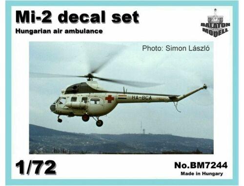 Balaton Model Mi-2 Hun. Ambulance matrica szett 1:72 (7244)