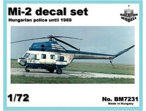 Balaton Model Mi-2 Hun. Police matrica szett 1:72 (7231)