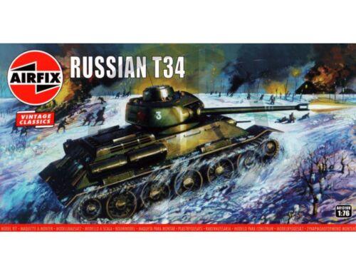 Airfix Russian T-34 Medium Tank,Vintage Classic 1:76 (A01316V)