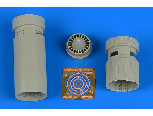 Aires IAI Kfir C2/C7 exhaust nozzles for AMK 1:72 (7353)