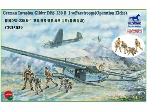 Bronco German Tactical Assault Glider DFS 230 B-1 w/4 Figures 1:35 (CB35039)