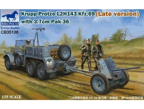 Bronco Krupp Protze L 2 H 143 Kfz.69(Late versi  3.7cm Pak 36 1:35 (CB35138)