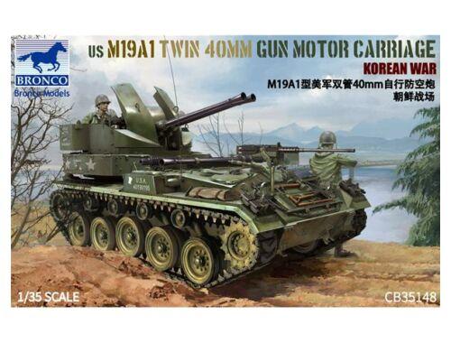 Bronco US M19A1 Twin 400mm Gun Motor Carriage Korean War 1:35 (CB35148)