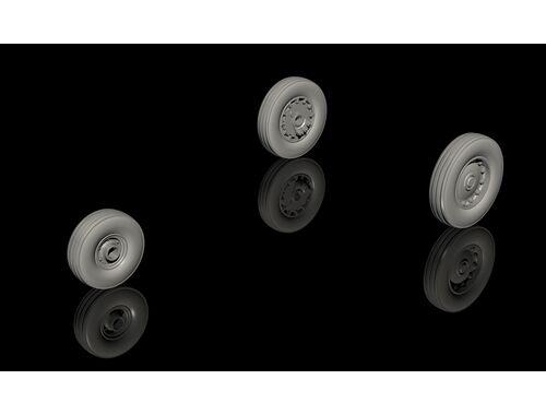 CMK A-4C(late)and later Skyhawk Wheels (late type w.plain hubs) 1:72 (Q72308)