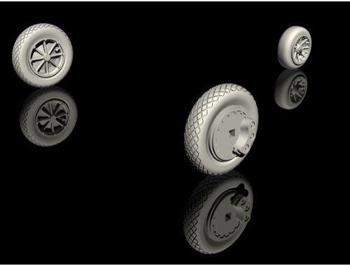 CMK FH-1 Phantom Mainwheels and Nosewheel for Special Hobby kit 1:72 (Q72326)