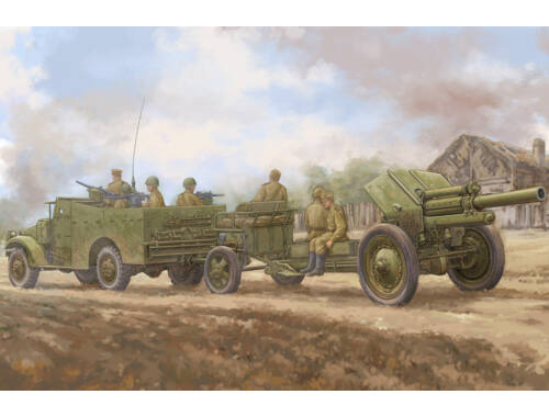 Hobby Boss M3A1 late version tow 122mm HowitzerM-30 1:35 (84537)