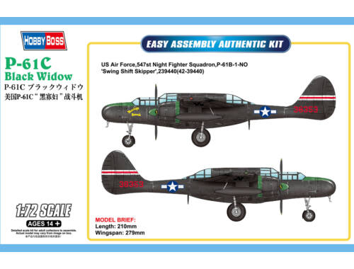 Hobby Boss US P-61C Black Widow 1:72 (87263)